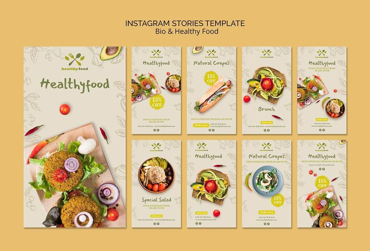contoh tema desain instagram